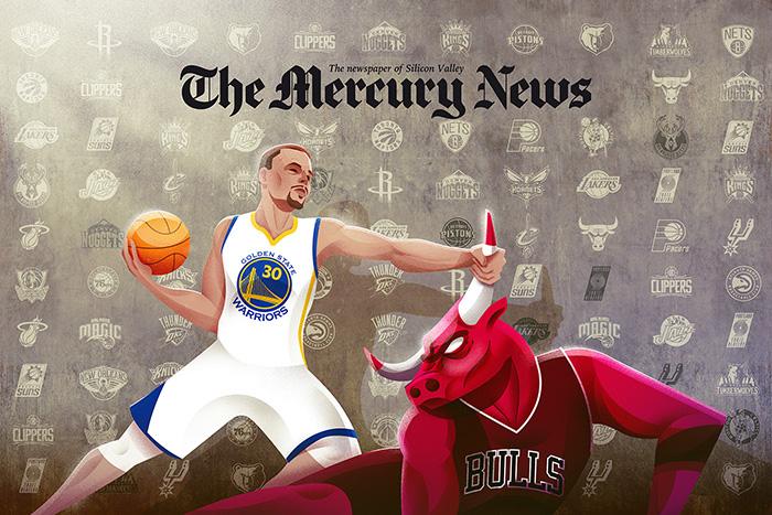 Curry vs Bulls